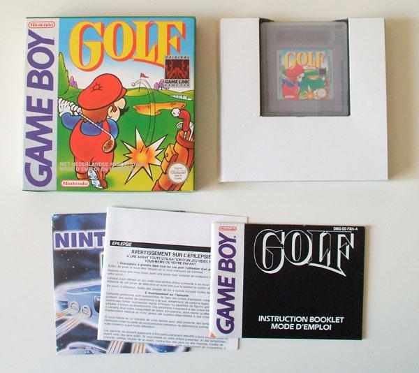 Petite collection Game Boy FR (jeu set et match) Golf